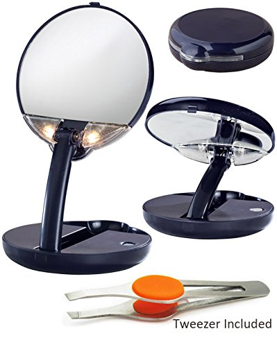 15X Lighted Cobalt Magnifying Personal Compact Mirror front-64826