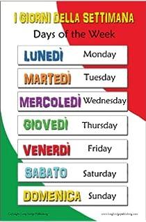 Days Of The Week In Italian