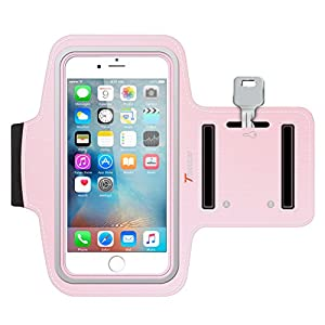 iPhone 6S Armband, Trianium ArmTrek Sports Exercise Armband for Apple iPhone 6 | iPhone 6S Case Running Pouch Touch Compatible Key Holder [Pink] [Lifetime Warranty] Good for Hiking,Biking,Walking