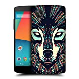 Head Case Designs Wolf Aztec Animal Faces Protective Snap-on Hard Back Case Cover for LG Google Nexus 5 D820 D821