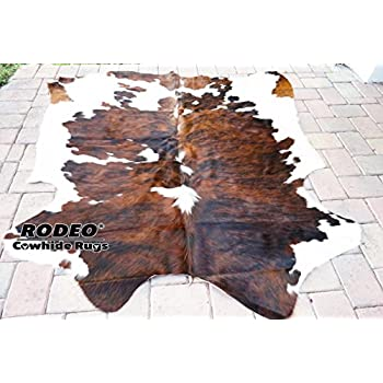 RODEO Superior Rodeo Brindle Brown Chocolate Nutella Cowhides Rug