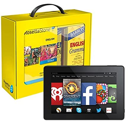 Rosetta Stone English (American) Power Pack and Fire HD 7 Bundle