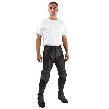 Roleff Racewear 2846L Pantalon Cuir Unisexe Grande Taille, Noir, H46L