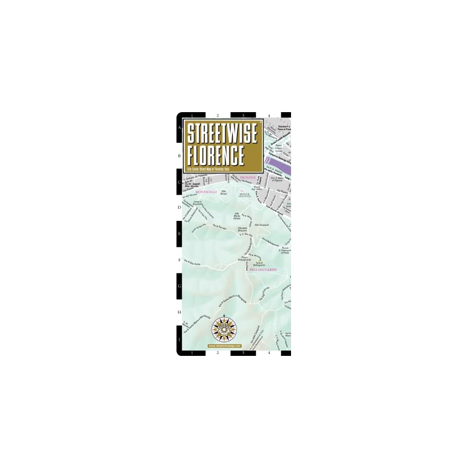 Streetwise Florence Map   Laminated City Center Street Map of Florence, Italy   Folding pocket size travel map with train tracks & stations