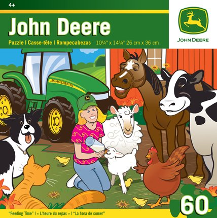Masterpieces Puzzle Company John Deere Feeding Time Jigsaw Puzzle (60-Piece) front-334651