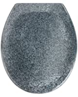 Wenko 18902100 Abattant Ottana Descente Progressive Granité Gris