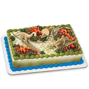 Cake Decorating Kit Of The Month : Amazon.com: Dinosaur Skeleton DecoSet Cake Decoration ...
