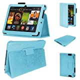 Stuff4 MR-KFHDX7-LMAG-BB-STY-SP PU Leather Professional Portfolio Magnetic Case/Stand Cover for 7 inch Kindle Fire HDX 7 - Baby Blue