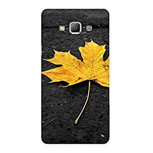 Cute Yellow Lovely Leaf Back Case Cover for Galaxy A7