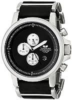 Vestal Men's PLE030 Plexi Black Ion-Plated Case Black Leather Watch by Vestal