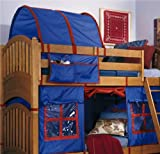 Lea Kids My Place Blue/Red Tent for Full Loft Bed - 342-t461