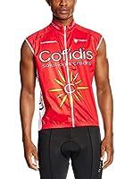 MOA Chaleco para Ciclismo Cofidis (Rojo)