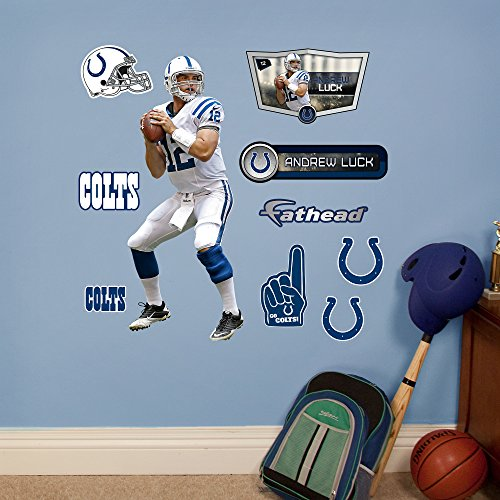 NFL Indianapolis Colts Andrew Luck Fathead Wall Decal, Junior (Crystal Tough Luck compare prices)