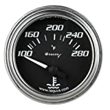 Equus 7262 Water Temperature Gauge - Black