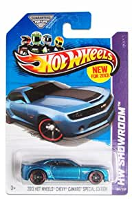 Mattel 2013 Hot Wheels Blue Chevy Camaro Special Edition