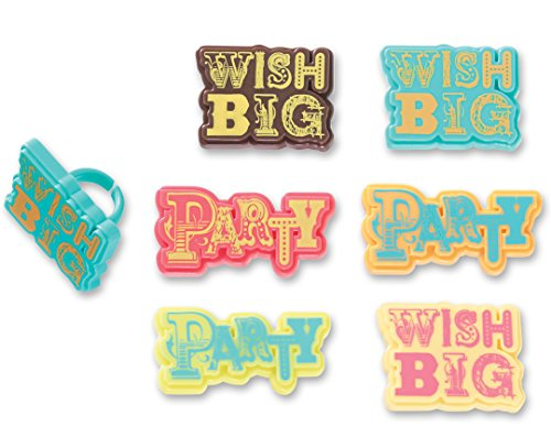DecoPac Party & Wish Big Cupcake Rings (12 Count)