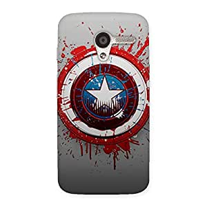 Premium Blood Red Round Back Case Cover for Moto X