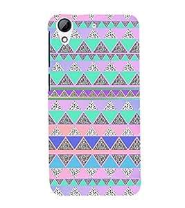 EPICCASE Triangle pattern Mobile Back Case Cover For HTC Desire 626 (Designer Case)