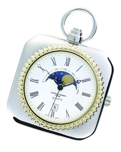 Charles-hubert, Paris Charles-hubert Paris Two-tone Open Face Quartz Pocket Watch