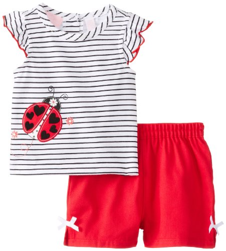 Kids Headquarters Baby-Girls Newborn Black And Top With Shorts Lady Bug, Red, 6-9 Months front-1022872