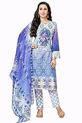 Lebaas Pasmina Digital Printed Purple Salwar Suit Dupatta Material(Un-stitched)