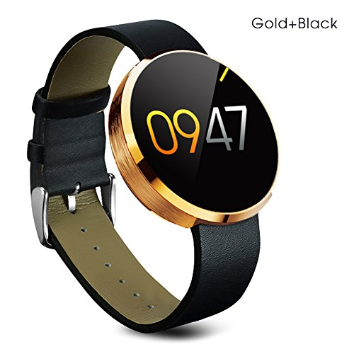 Buyee Dm 360 Waterproof Bluetooth Smart Watch Finger Gestures Voice Control Pedometer Smart Fitness Coach & Tracker Smartwatch for for IOS Apple Iphone 4/4s/5/5c/5s/6/6s Android Samsung S6/s6 Edge/s4/s5/note3/note 4 HTC (Golden)