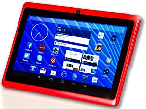"DeerBrook 7"" Dual Core 1.5GHz Android 4.4 Tablet with Dual Camera, Bluetooth, A23 Processor, Wifi (Red)"