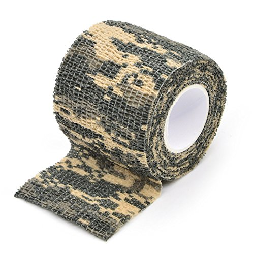 Freehawk® Self-adhesive Outdoor Military Camo Form Multi-functional Non-woven Camouflage Wrap Tape Waterproof Camo Stealth Tape Perfect for Hunting Gun, Knife Handles and Deck Out Your Paintball Airsoft Guns in Camouflage 3.5M (ACU Camo) (Gun Tape compare prices)