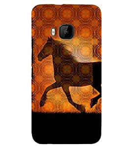 Fuson 3D Printed Horse Designer back case cover for HTC One M9 - D4572