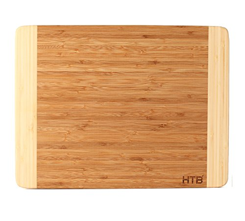 HTB 100% Bamboo Cutting Board,Thick Bamboo For Food Prep, Making Cocktails or Serving Appetizers 03L (Making Fake Food compare prices)