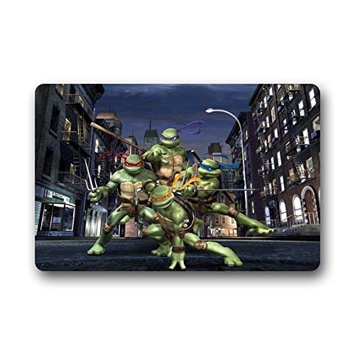DENSY Custom Machine Washable Teenage Mutant Ninja Turtles Indoor /Outdoor Doormat Bathroom Kitchen Decor Area Rug/Floor Mat 18 x 30 Inch