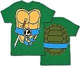 Mighty Fine TMNT Teenage Mutant Ninja Turtles Leonardo Costume Green Adult T-shirt Tee (Large)