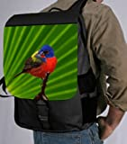 Colored Bird on Green Background Back Pack &#8211; School Bag Bag &#8211; Laptop Bag -Book Bag &#8211; Unisex &#8211; Ideal Gift for all occassions!