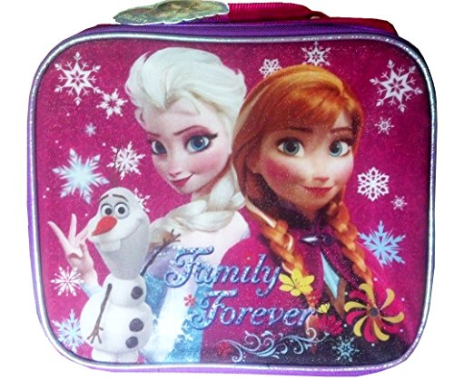 Disney Frozen Elsa and Anna Lunch Box Tote Family Forever - 1