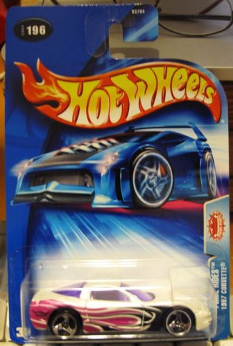 Hot Wheels 2004-196 Pride Rides 1997 Corvette WHITE