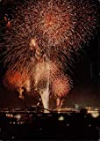 Fireworks Display Tokyo, Japan Original Vintage Postcard