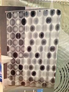 Amazon Splash Home Vinyl Shower Curtain With Black