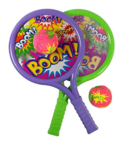 Boom Drum Racket Sports Set for Kids with 2 Rackets and Soft Balls - 1