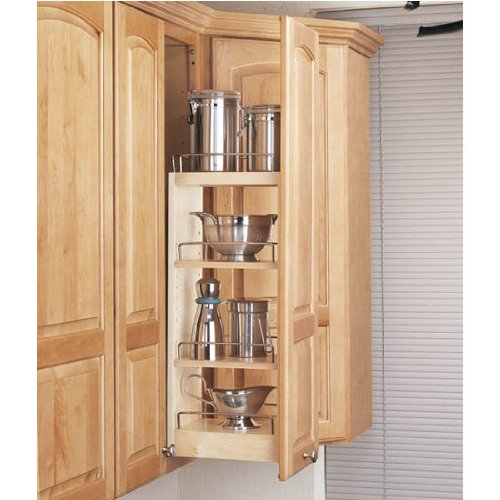 Rev-A-Shelf 448-WC-8C Wall Pull Out Shelving System 8-inch Wide