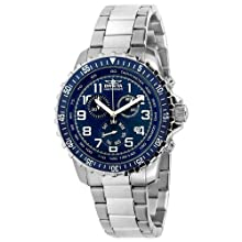 Invicta Men s 6621 II Collection Chronograph Stainless Steel Blue Dial Watch