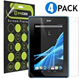 Evecase Crystal Clear & Anti-Glare Anti-Fingerprint Matte Screen Protector Mix Set for Acer Iconia B1-A71 New 7-inch Andriod Tablet - - 4 Pack