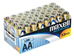 Maxell LR6 - Pilas alcalinas AA, 32 u...