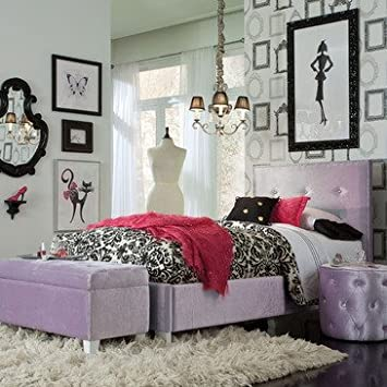 Standard Furniture Young Parisian 3 Piece Kids' Bedroom Set in Lavender