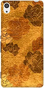 The Racoon Grip Gold Vintage Floral hard plastic printed back case / cover for Sony Xperia Z3