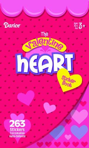 WeGlow International The Valentine Heart Sticker Book (Pack of 4)