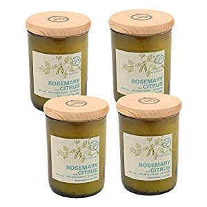 Paddywax Eco Green Recycled Glass Candle, Mediterranean Rosemary & Citrus from Paddywax Candles