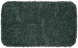 Garland Rug 3-Piece Serendipity Shaggy Washable Nylon Bathroom Rug Set, Dark Gray