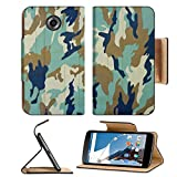 MSD Premium Flip Pu Leather Wallet Case Motorola Google Nexus 6 IMAGE ID: 14507791 Military camouflage background