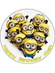 "Minions 7.5"" Round personalised birth..."