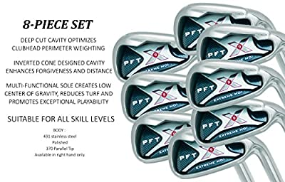 PFT X9 High Moi Extreme 9 Iron Set Golf Clubs Custom Made Right Hand Stiff S Flex Steel Shafts Complete Mens Irons Ultra Forgiving OS Oversized Wide Sole Ibrid Club